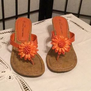 No Boundaries Orange heels